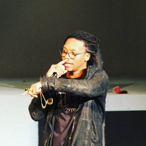Rapper Lupe Fiasco Gives Memorable All School Meeting Presentation