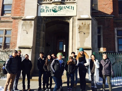 LFA students prepare to participate in Civic Action service-learning opportunities in Chicago.