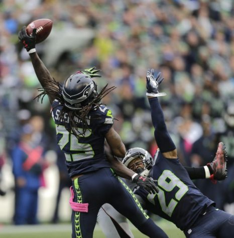 Richard Sherman and the rest of the Legion of Boom will attempt to shut down the Arizona Cardinals pass game. Photo Courtesy of Yahoo Sports.