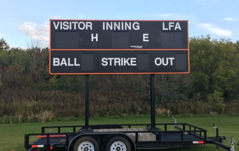 New baseball scoreboard in the soccer fields?