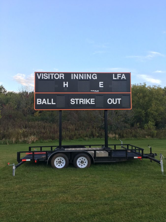 The new scoreboard is ready to use