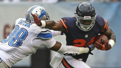 Jordan Howard will try to maintain his solid play in his second career NFL start. Photo Courtesy of ESPN.