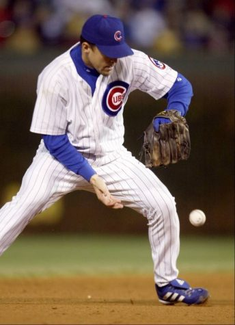 Alex Gonzalez bobble what should've been an inning ending double play during game 6 of the 2003 NLCS. Photo Courtesy of the Daily Herald.