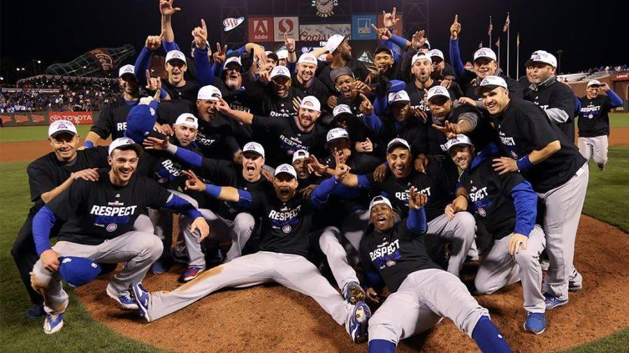 The Chicago Cubs celebrate their World Series win after a heart wrenching game 7.