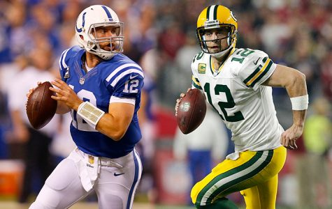 Star Quarterbacks Aaron Rodgers and Andrew Luck face off as they try to keep their teams in the playoff race.