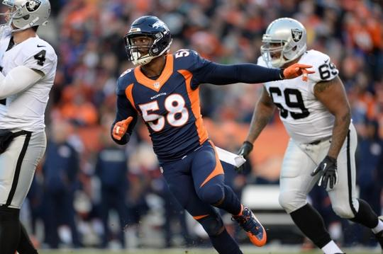 Von Miller and the Broncos Defense look to continue their dominance and shut down Derek Carr and the Oakland Raiders.