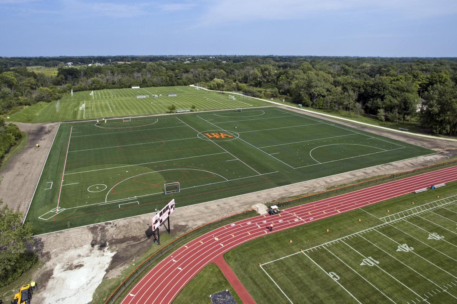 Completed turf fields