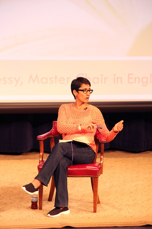 Irshad Manji talking at her evening conservation for her book, Don't Label Me, last year in April.  Photo Courtesy of lfa smugmug.