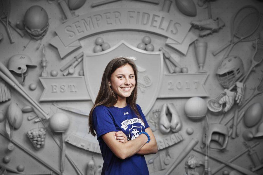 LFA's Anna Schilling given Semper Fidelis All-American Award and attends program in DC