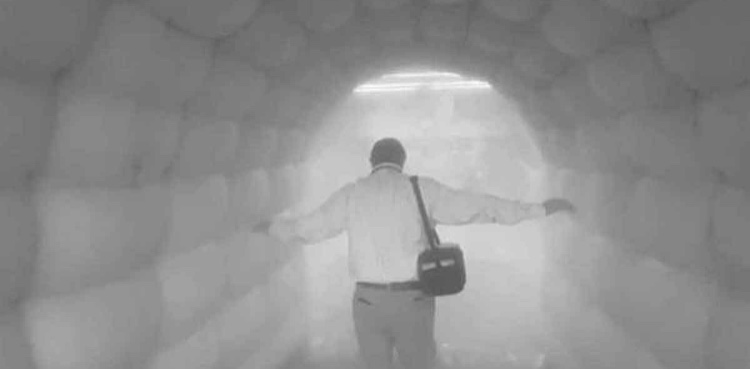 A tunnel in Mexico that cleanses a civilian before they can use public transportation.