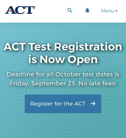 Students this summer were greeted with this screen on the ACT website, but past the pop up there were numerous internal issues.