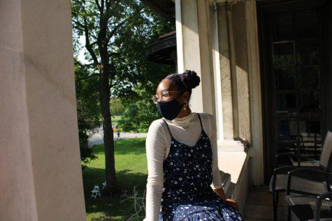 Briana Murphy '21 poses outside Reid Hall.
