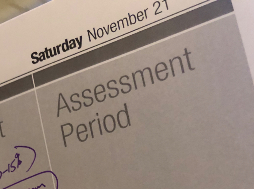 This year's assessment period stretches over the third weekend in November.