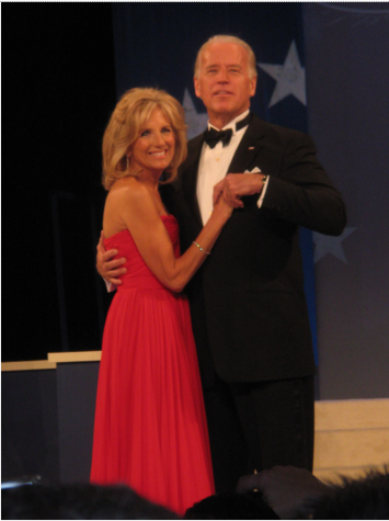 Dr. Jill Biden dances with her husband Joe Biden at the Homestates Ball in 2009.