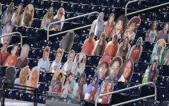 Washington Nationals Stadium, Nationals Park, is filled with cardboard cutouts in place of in-person fans.
