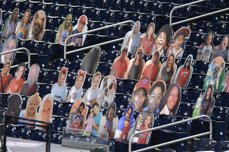 Washington+Nationals+Stadium%2C+Nationals+Park%2C+is+filled+with+cardboard+cutouts+in+place+of+in-person+fans.