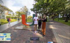 A screenshot from a virtual tour of the University of Miami.