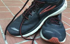 Running shoes that have gone unused since last spring before we went remote.